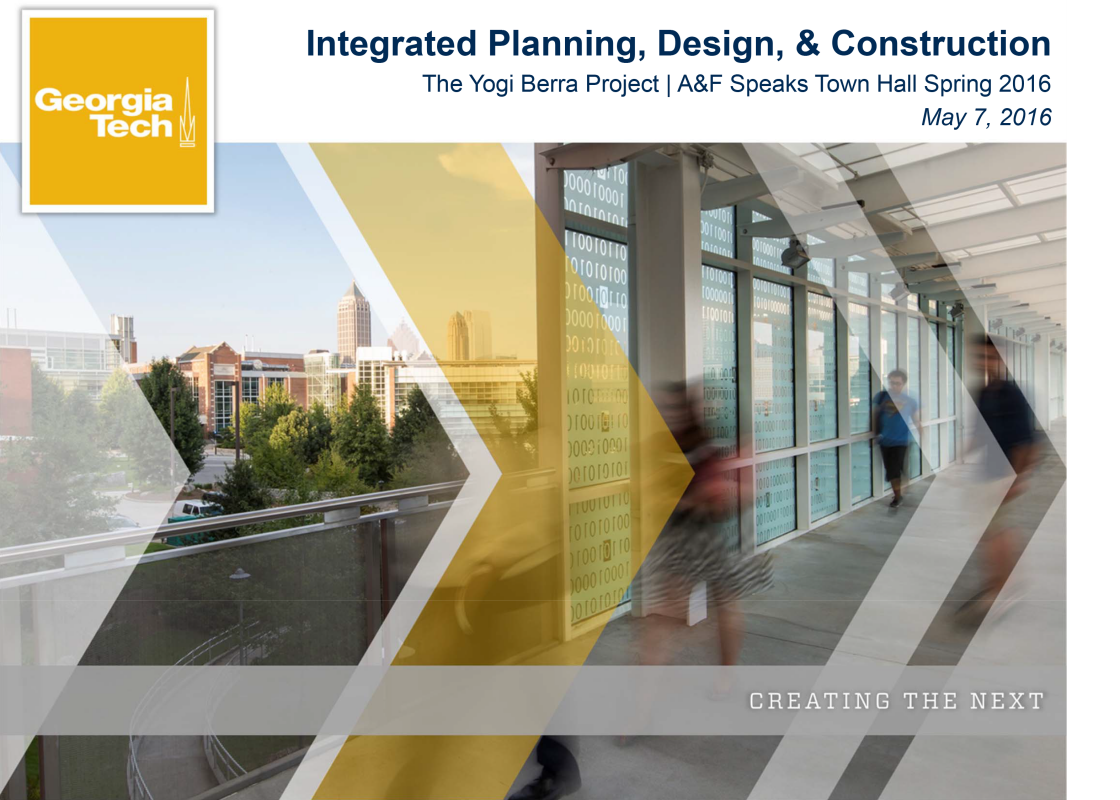 Integrated Planning, Design and Construction