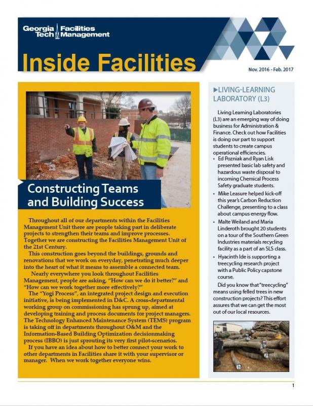Facilities First Quarter Newsletter