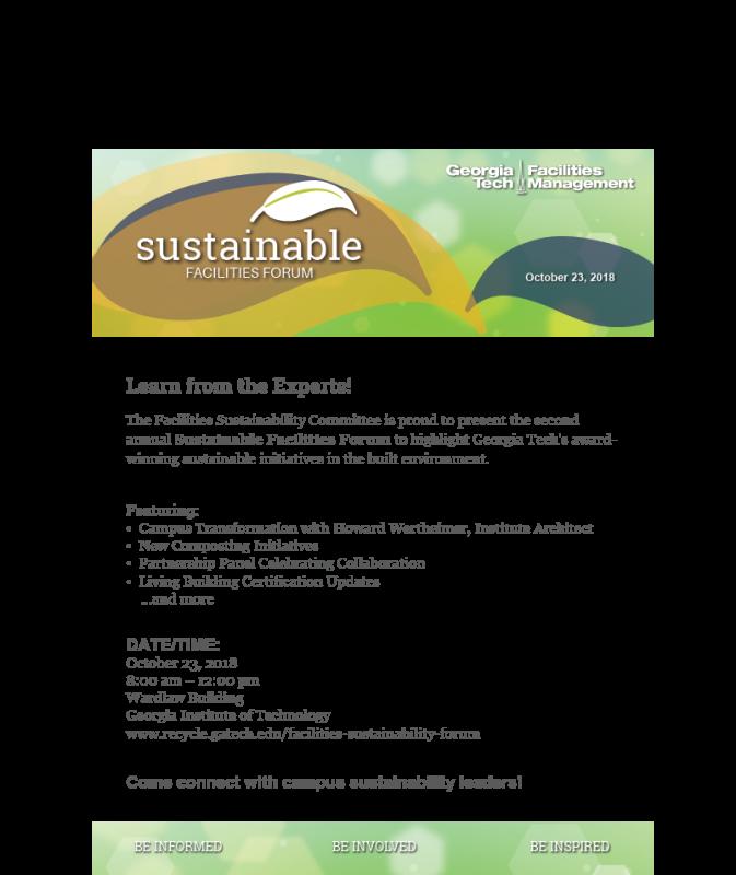 SustainableFacilitiesFlyer