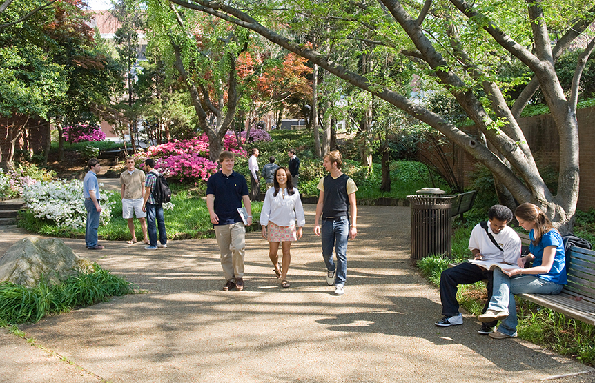 Tech's Campus In Spring