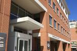 The front door of Economic Development Building